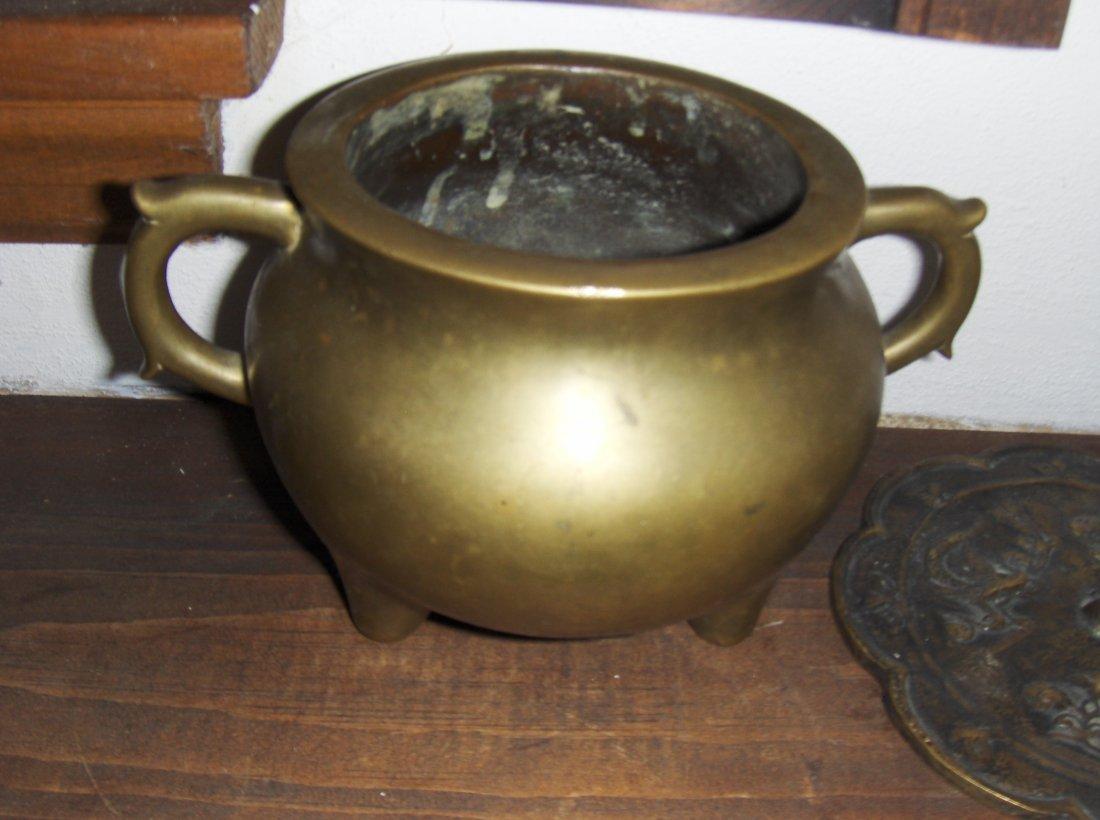 bronze qianlong incent burner, xuande mark
