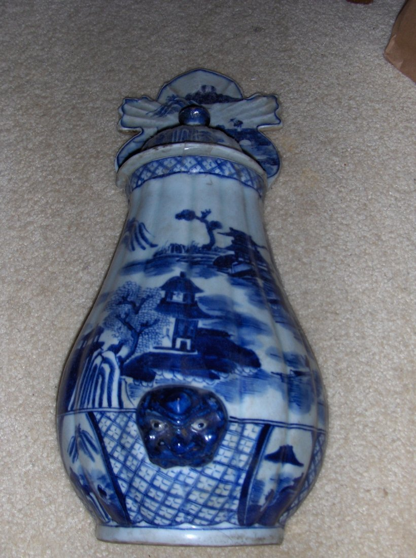 French or Chinese 19th century wall vase.