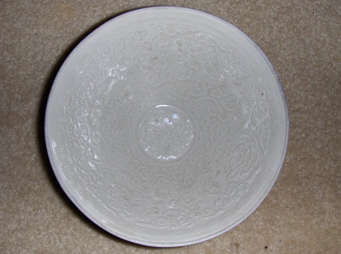 Chinese ming blanc dehua bowl. very nice carving.