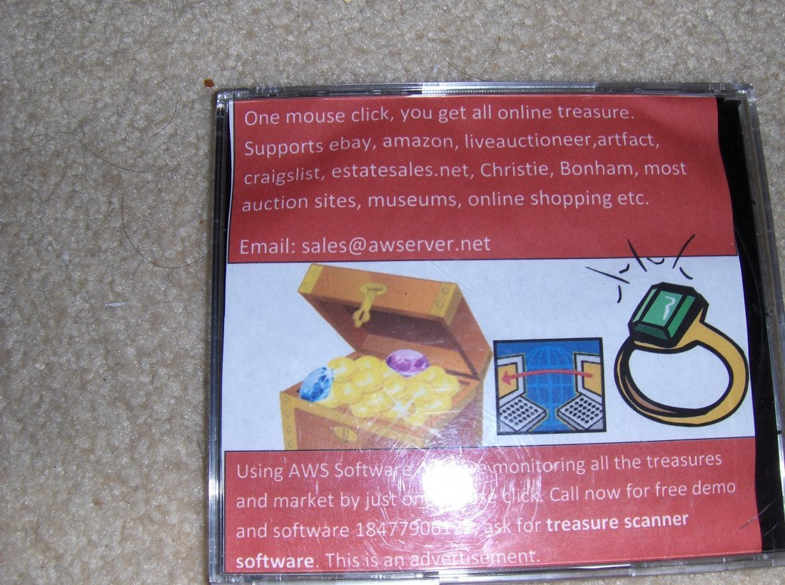 AW service online treasure scanner licence. winxp-win8