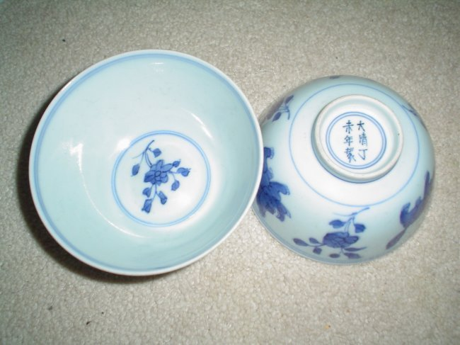 Chinese kangxi  a  pair of bowls. very nice, with mark