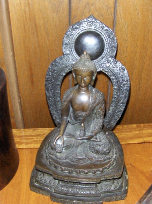 Chinese qing dynasty buddha bronze