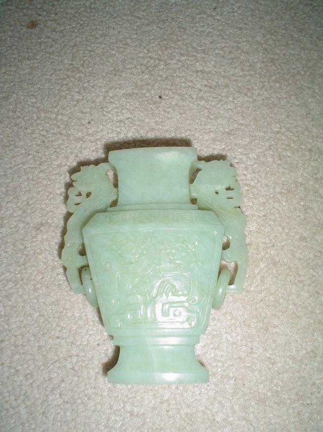 Chinese jade vase.