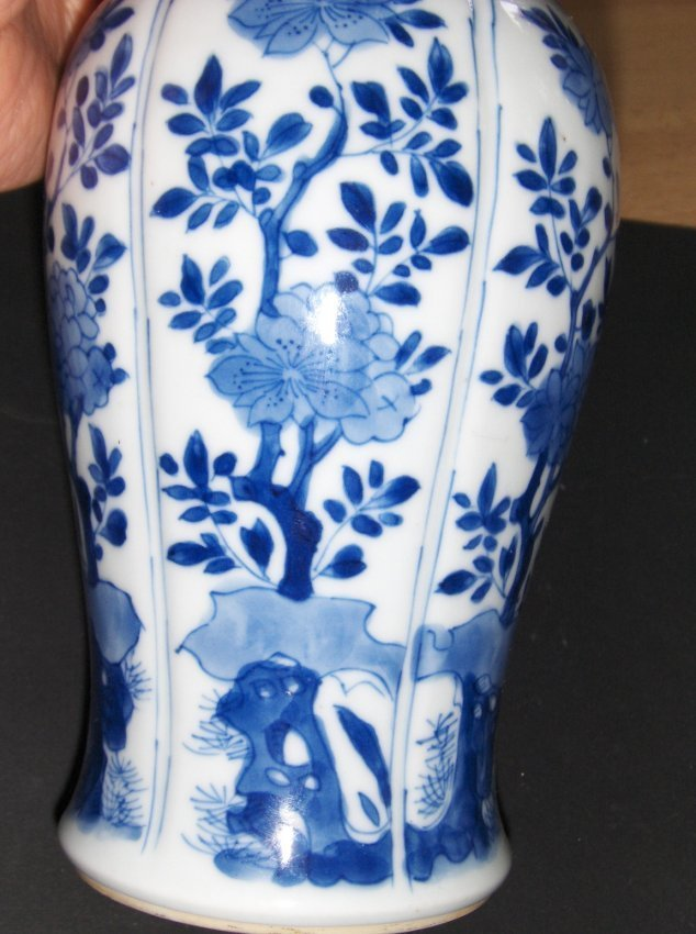Chinese blue and white ear ring vase. - 3