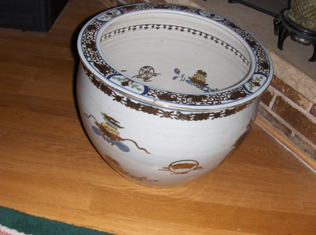 a large Chinese export bowl.