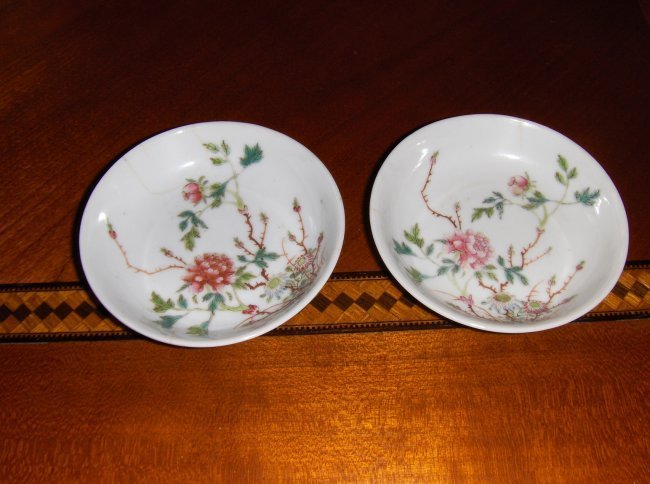 Chinese qing dynasty a pair plates qianglong mark