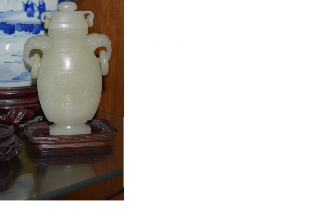 Antique Chinese qing dynasty jade vase
