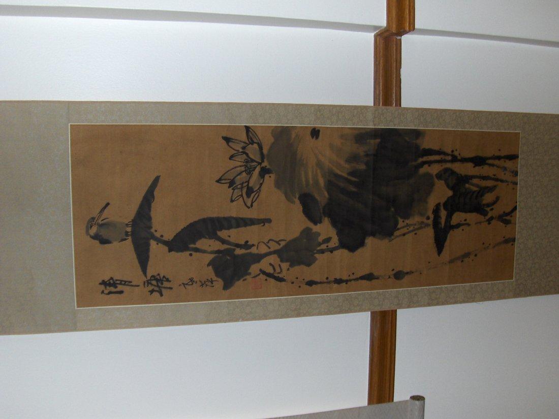 antique painting bird