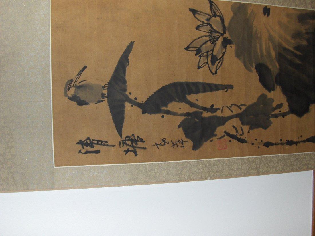 antique painting bird - 2