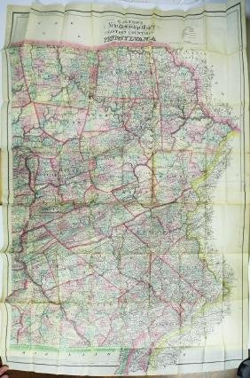 Colton, Map of Eastern PA, 1880