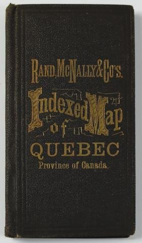 Rand McNally, Map of Quebec, 1878