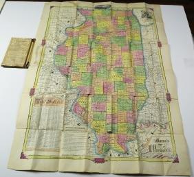 Morse Map of Illinois, 1855
