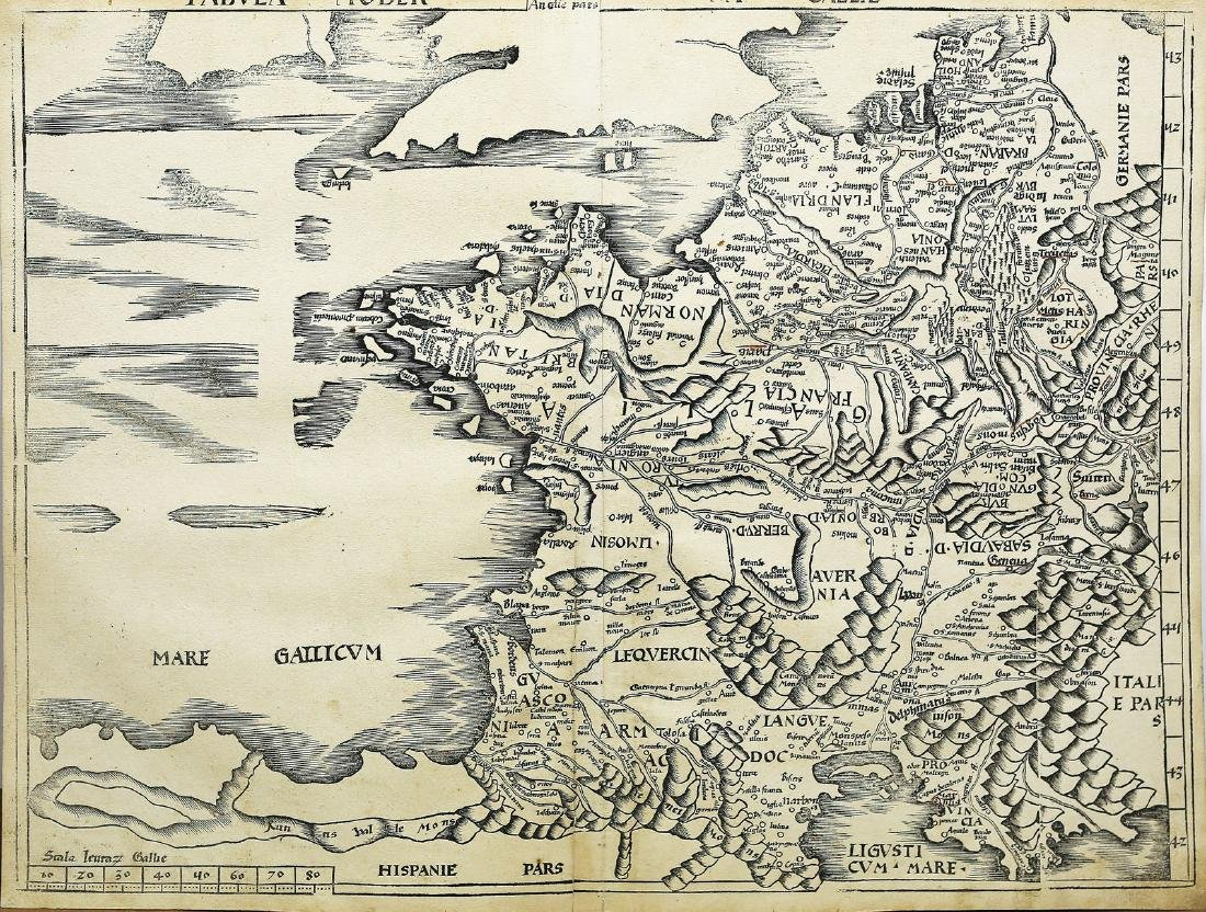 First Edition Waldseemuller Map of France