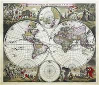 De Wit World Map 1690