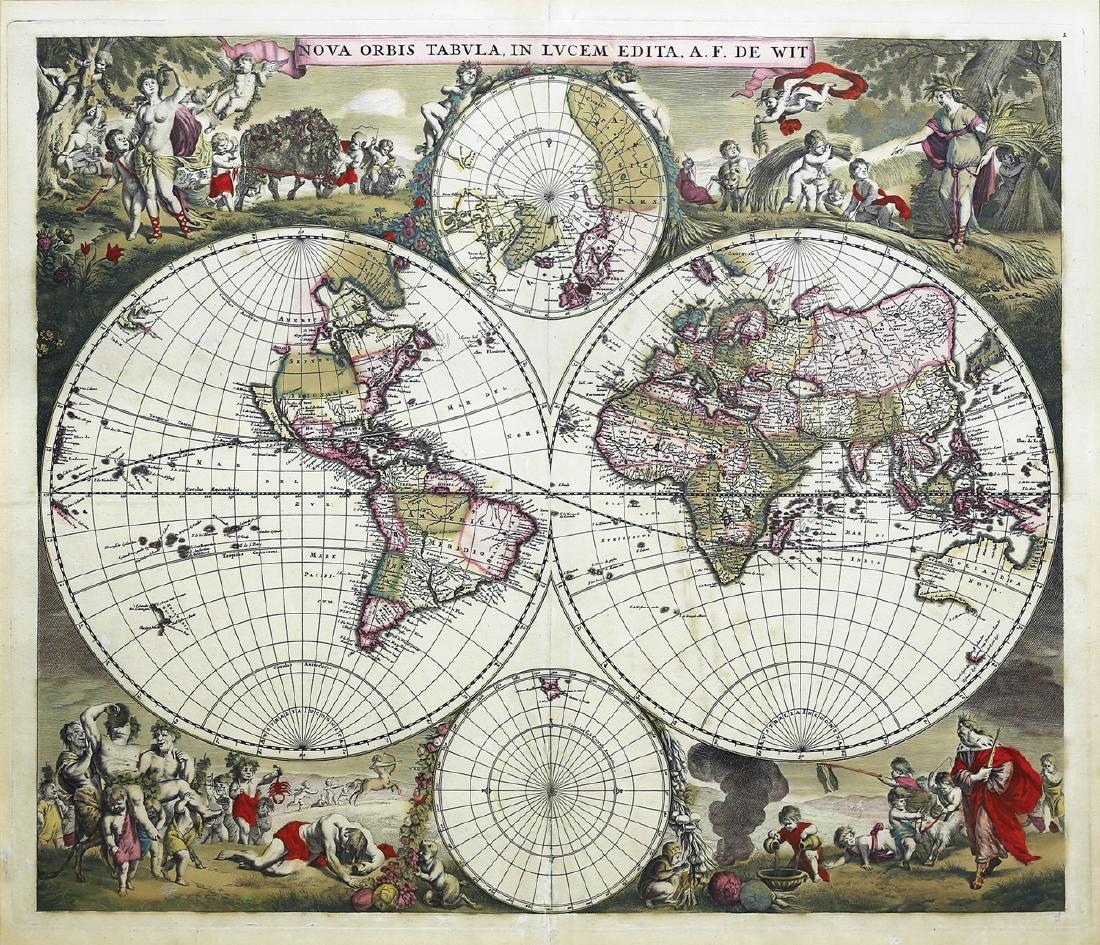 De Wit World Map, 1690