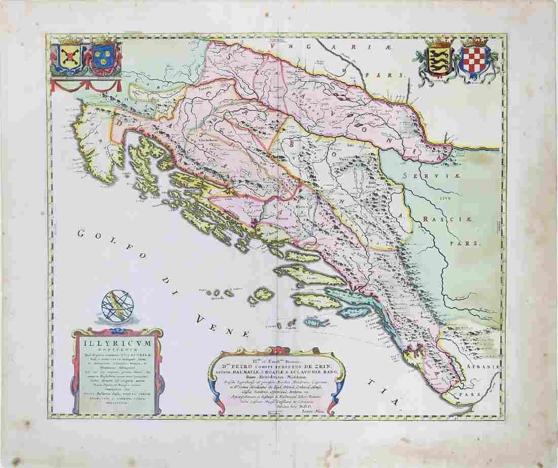 Blaeu, Map of the Balkans