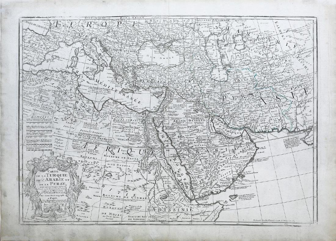 De L'isle, Map of Arabia