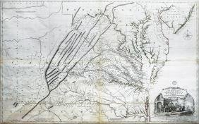 Fry and Jefferson First Edition Map of Virginia