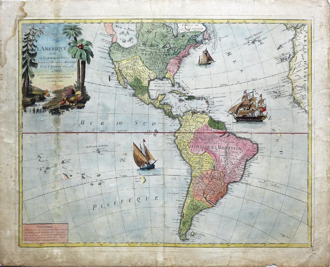 Janvier Map L'Amerique