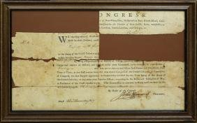 1776 John Hancock signed Continental Congress Document