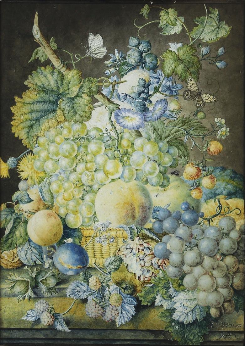 Oswald Wijnen Still Life Watercolor