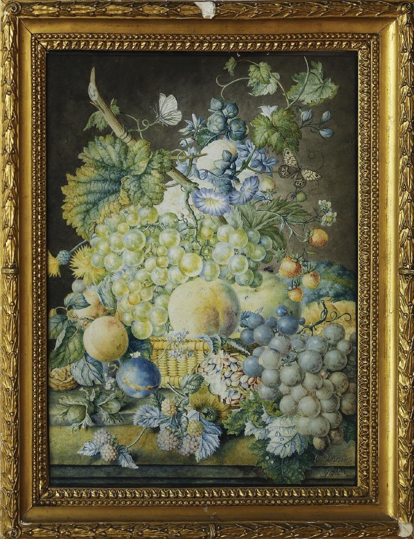 Oswald Wijnen Still Life Watercolor - 2
