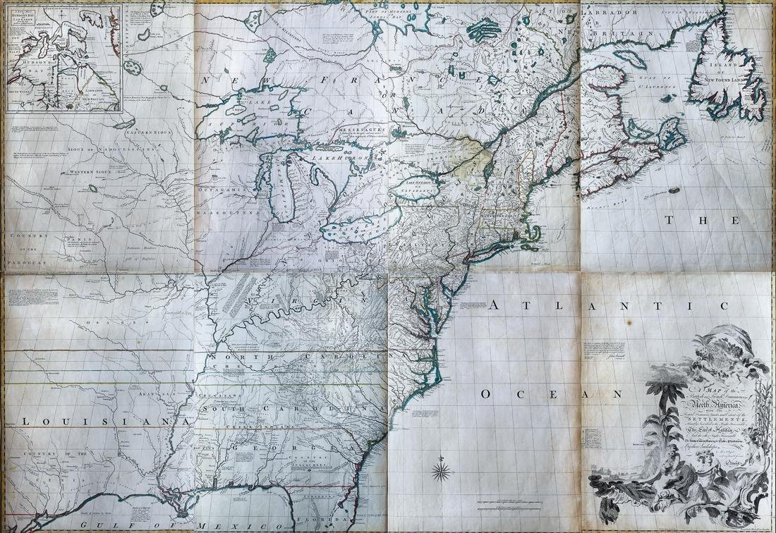 First Edition, First Issue of the Mitchell Map, 1755
