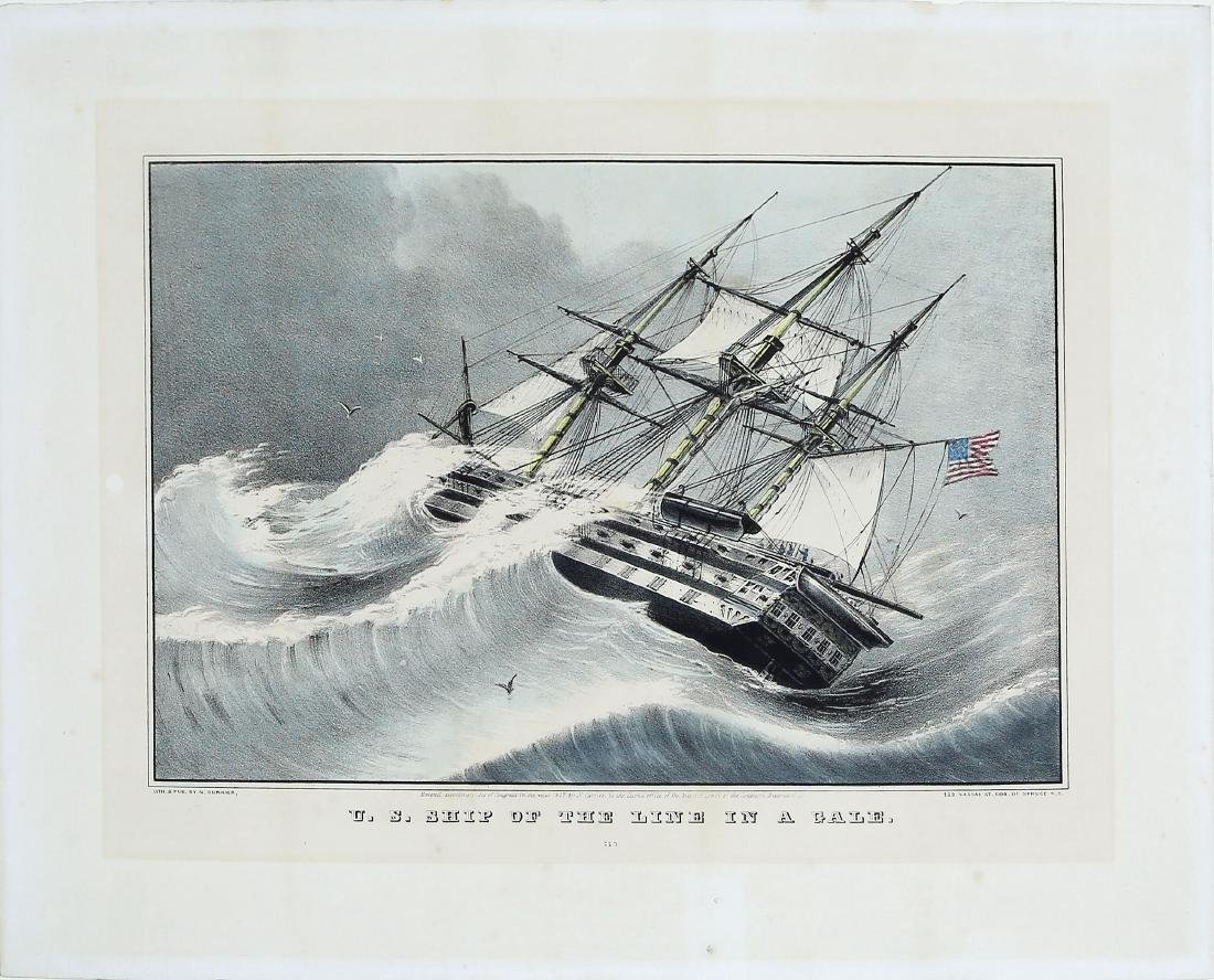 Currier Naval Lithograph