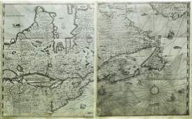 Champlains Definitive Map of New France