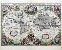 Hondius World Map