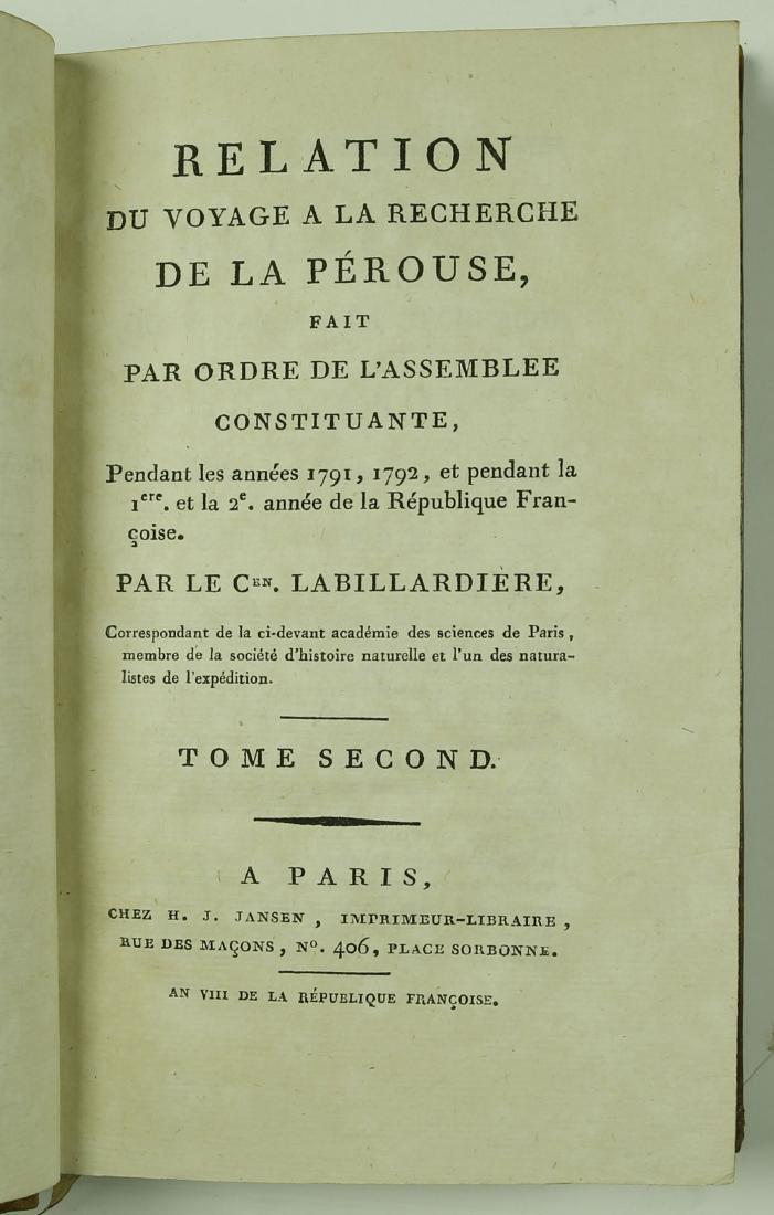 Octavo Edition of La Perouse's Voyage