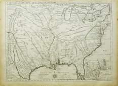 De Lisle Map of Louisiana
