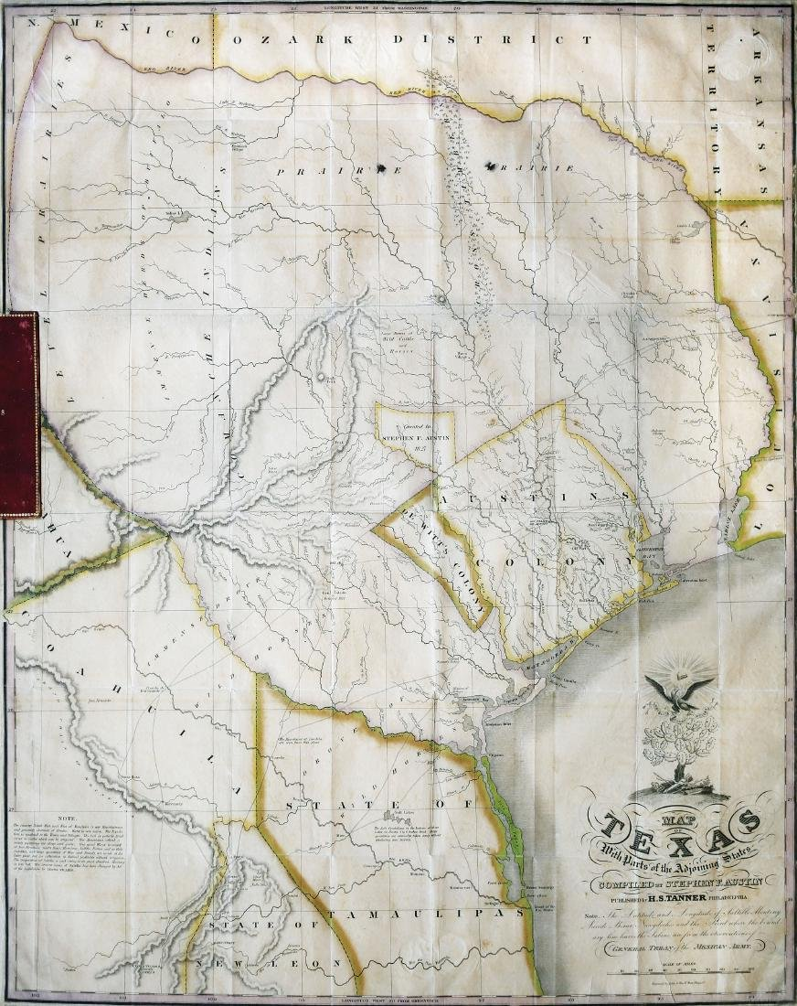 Stephen F. Austin 1830 Map of Texas