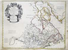 De LIsle Engraved Map of Canada