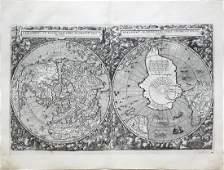 G De Jodes Double Hemisphere World Map