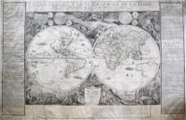 De Fer's hand-colored Mappe Monde