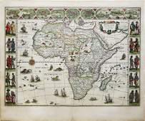 Blaeu Engraved Map of Africa