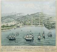 View of San Francisco, formerly Yerba Buena Lithograph