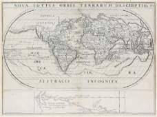 Spilbergen Engraved World Map