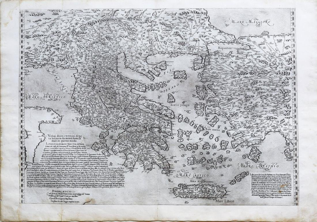 Pirro Ligorio's Rare Map of Greece