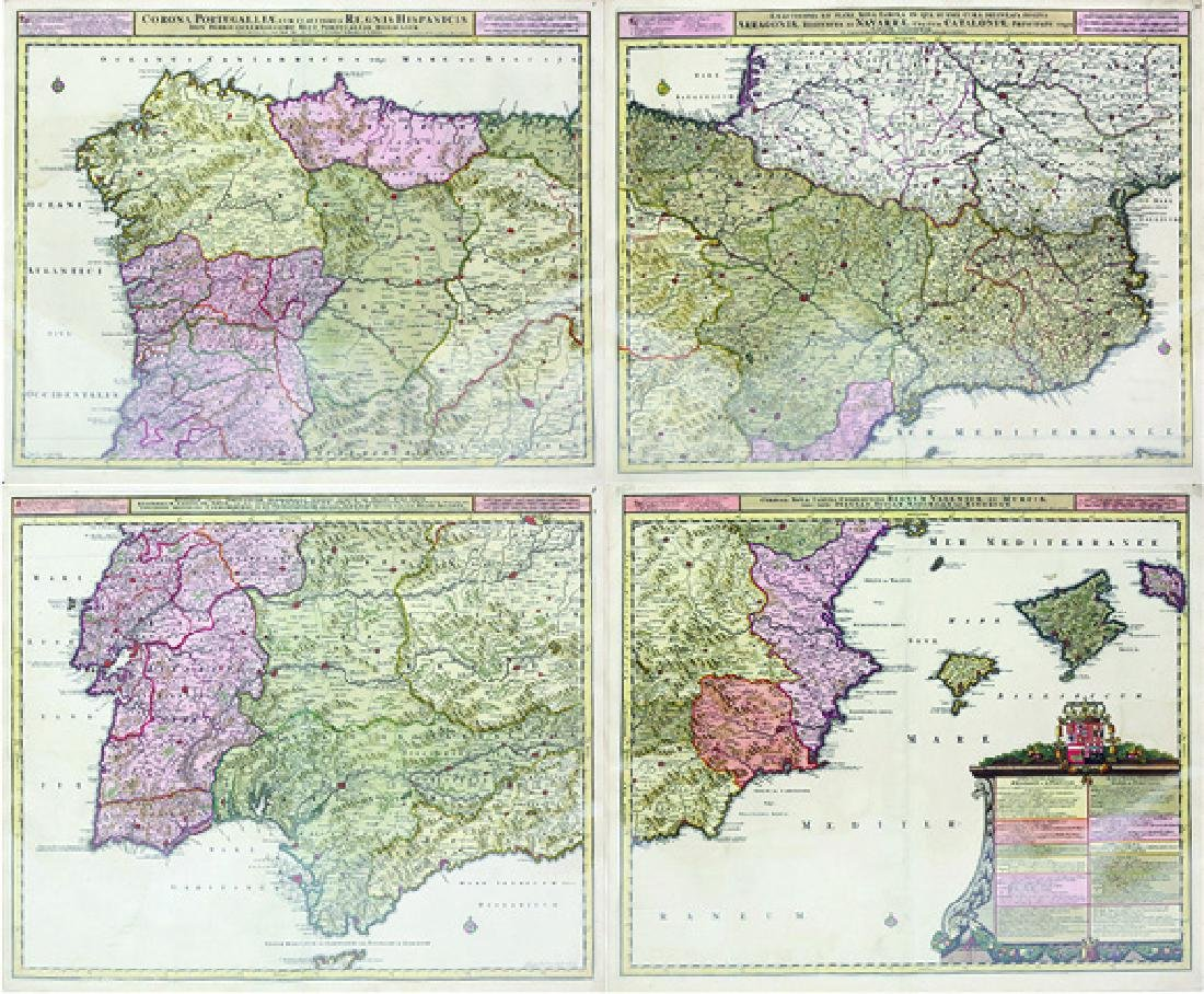 Allard Engraved Map of Iberian Peninsula