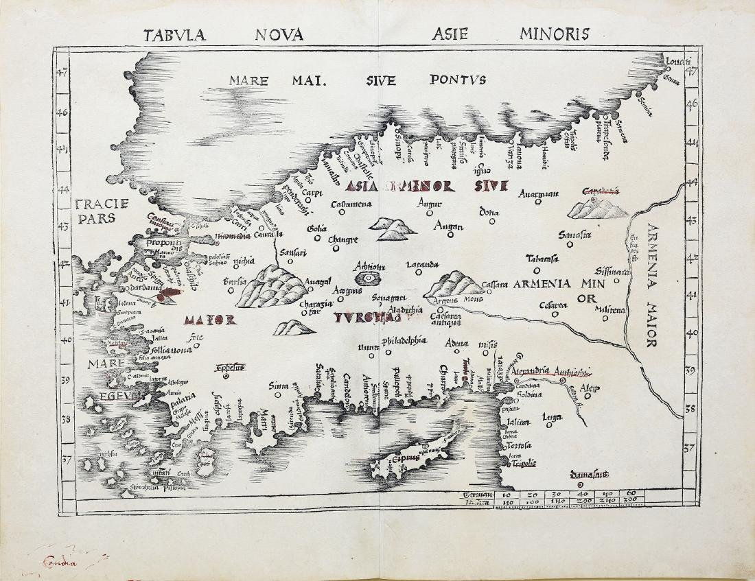 Ptolemy's Woodblock Map of Turkey