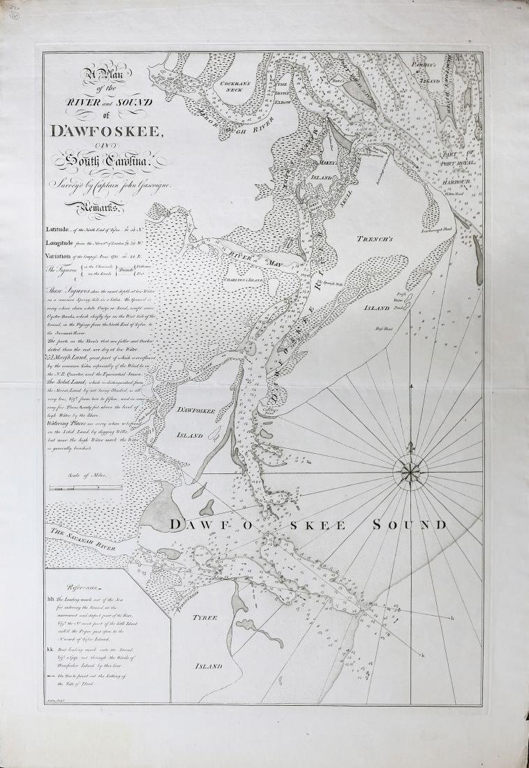 Plan of the River and Sound D'Awfoskee in South