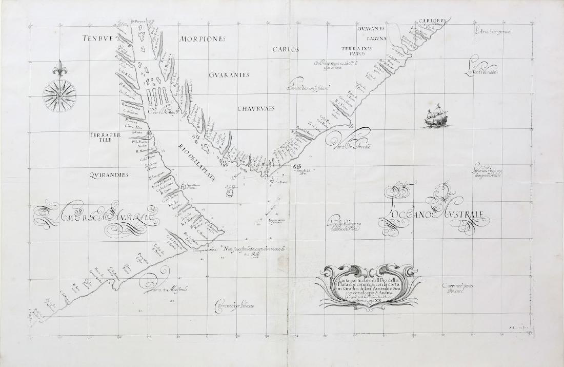 Dudley Map of Rio della Plata Argentina