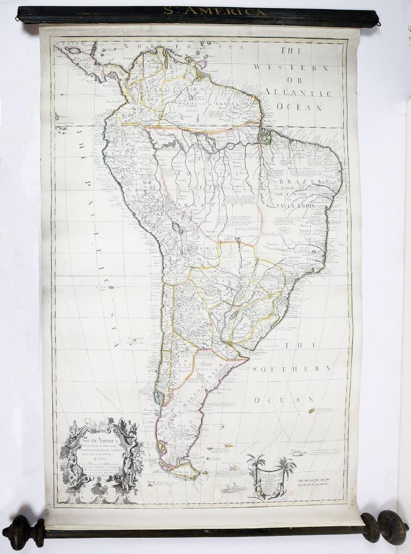 Engraved Map of South America by Charles Price
