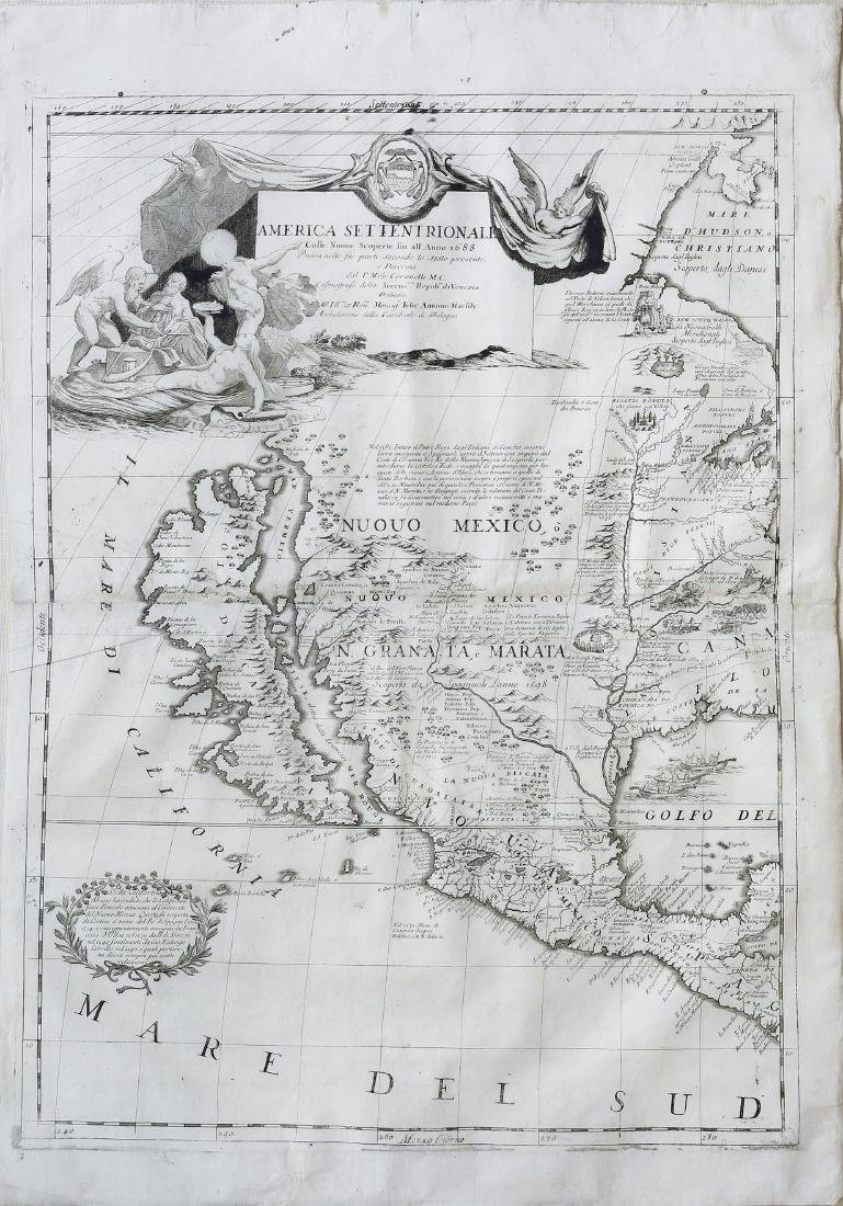 Coronelli's Map of West Coast of America
