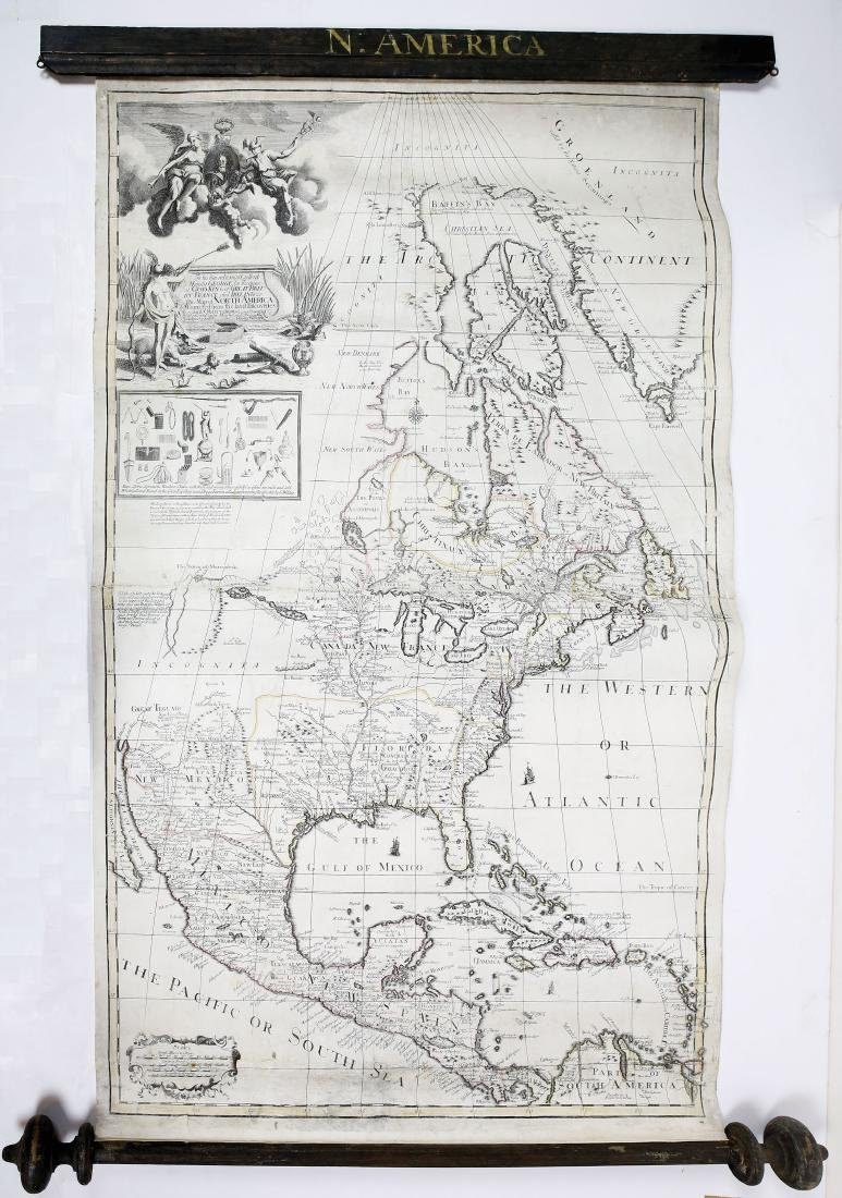 George Willdey's Engraved Map of North America