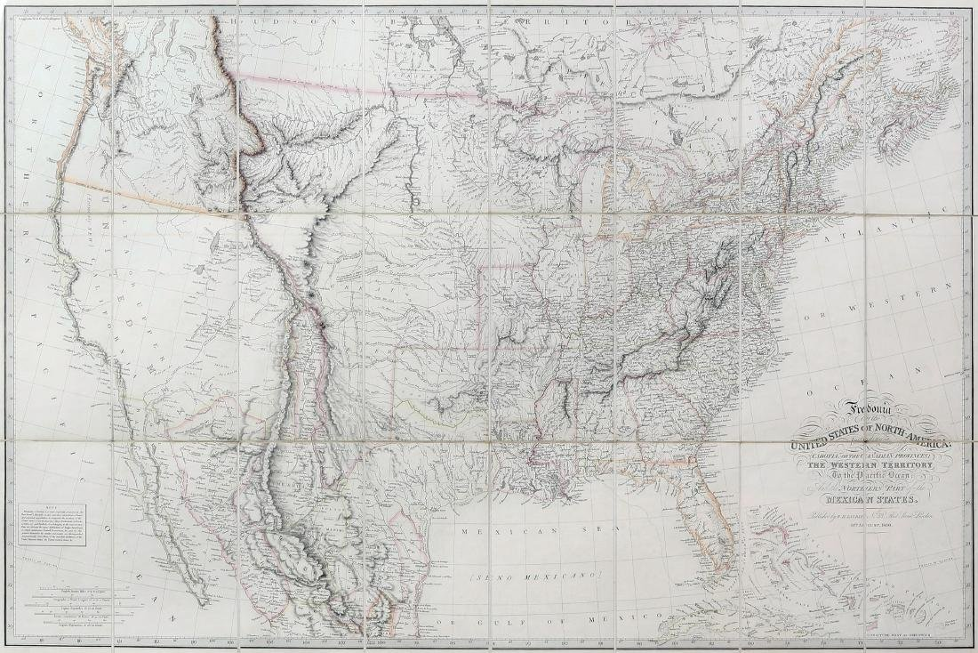 Laurie Engraved Map of The US (Fredonia)