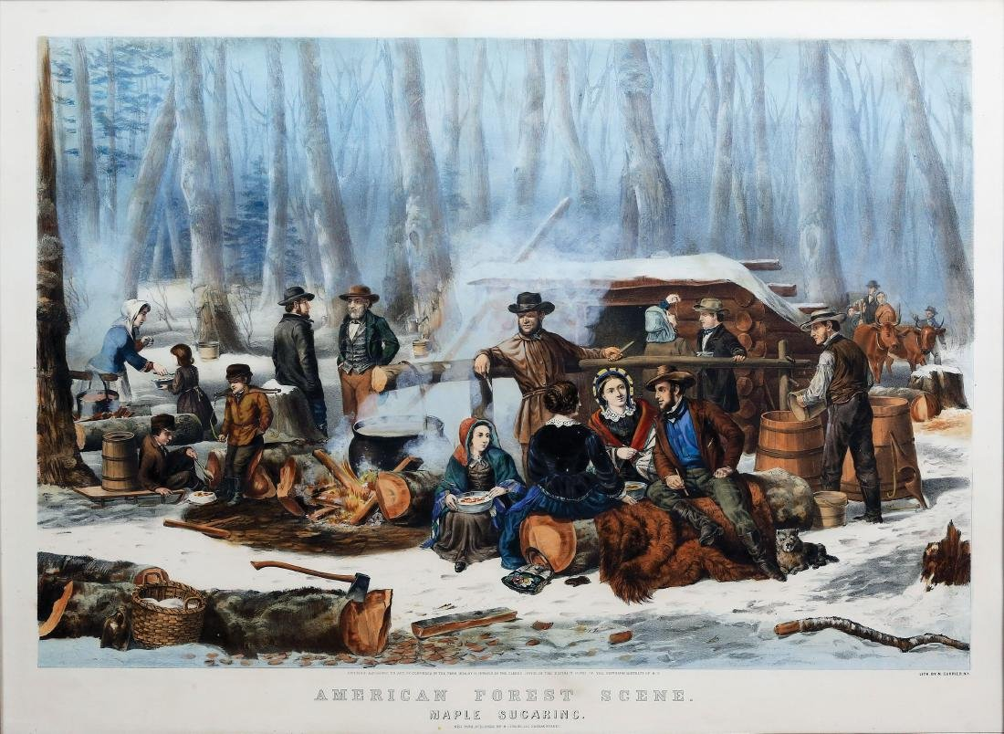 Currier & Ives Maple Sugaring
