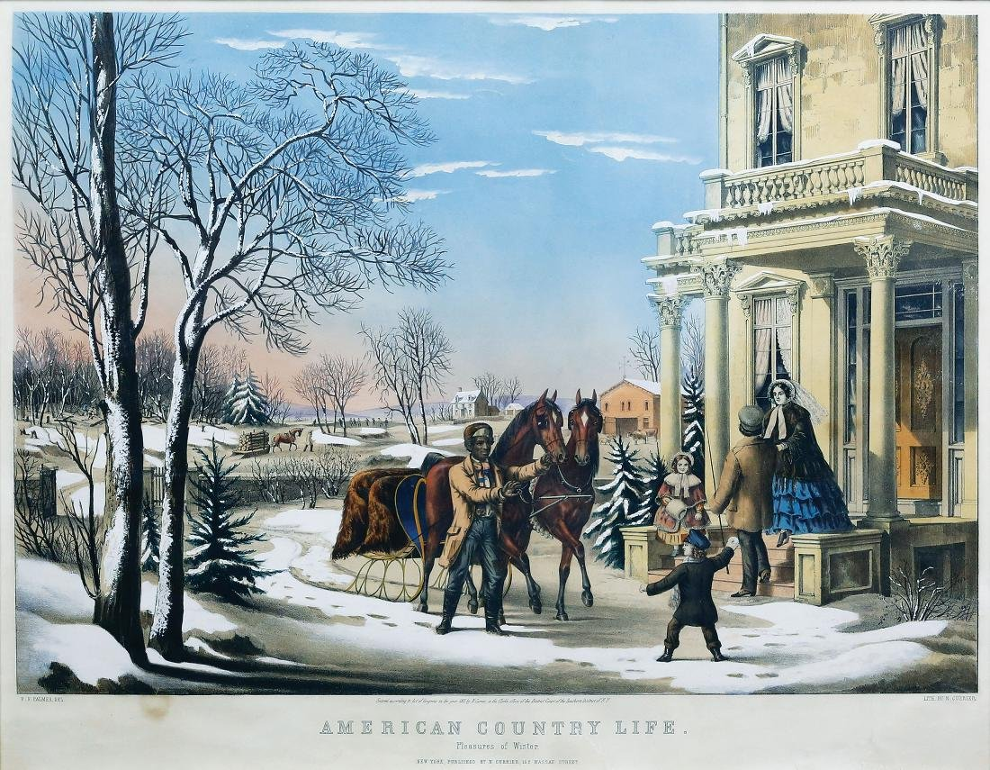 Currier & Ives American Country Life Pleasures of